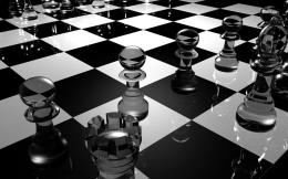 Glass chess pieces wallpaper3D wallpapers# 1997