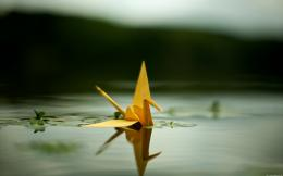 Paper Crane In Water Wallpapers, Paper Crane In Water Myspace 1166