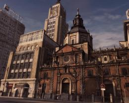 Church On An Empty City Street Hdr Hd Wallpaper | Wallpaper List 306