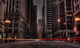 City Street In Long Exposure Hdr Hd Wallpaper | Wallpaper List 500