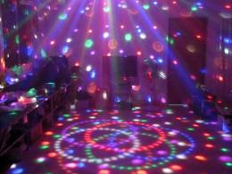Disco DJ Stage Lighting LED RGB Crystal Magic Ball DMX light Effect 1393