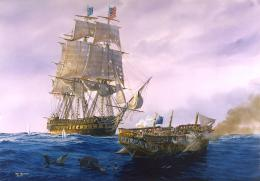 sailing sea waves sky clouds painting T Freemen military h wallpaper 440