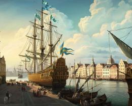 Download Mighty Galleon painting wallpaper in CityWorld wallpapers 883