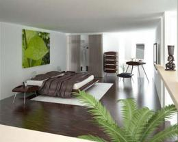 Green Modern Bedroom Wallpaper DesignDecosee com 1029