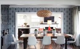 10 Modern Dining Rooms with Geometric Wallpaper | RilaneWe Aspire 1674