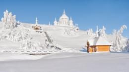 Wallpaper belogorsky stnicholas monastery, winter, snow, landscape 1771
