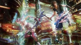 Hentai Video Final Games Wallpaper Fantasy Xiii Rain Farron Serah 1688