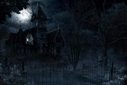 Mansion Creepy Halloween Gate dark horror wallpaper | 1600x1080 1360