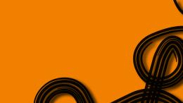 Orange Black Wallpaper 1920x1080 Orange, Black, Curve 1560
