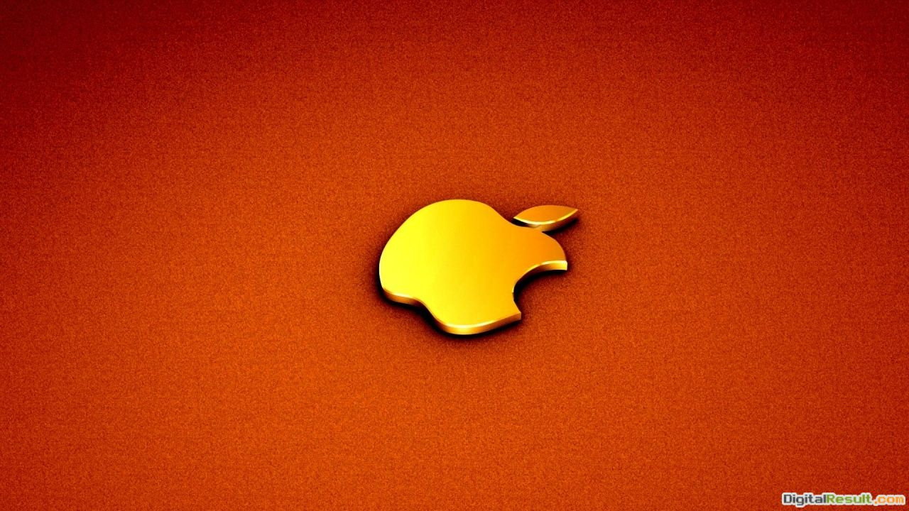 Download Orange Apple logo wallpaper in Other wallpapers with all 1356