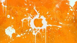 Orange Apple logo wallpaper #511 295