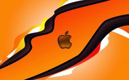 Abstrakten orange Apple hintergrundbilder mit Apple logo 1623