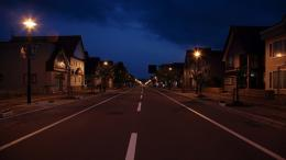Ordinary town road at night wallpaper 878