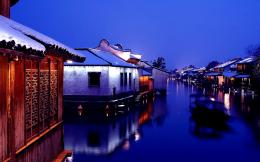 town night view in Xishan Wuzhen Zhejiang China | city wallpaper 1298