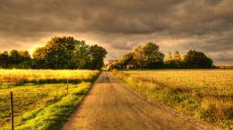 Country Dirt Road At Nightwallpaper 1813