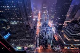 New York Streets at Night Wallpaper New York City Street Building 1798