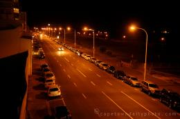 Beach Road in Mouille Point at night 1024