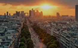 Lovely Paris Sunset wallpapers | Lovely Paris Sunset stock photos 728