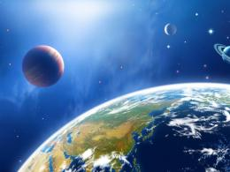 : 43 CG illustrator space universe planet Earth Space Planet 1838