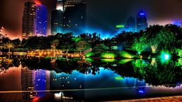 Colorful Night With Neon Light Hd Wallpaper | Wallpaper List 531