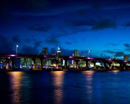 Magnificent Miami At Night Hd Wallpaper | Wallpaper List 209