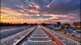 railroad tracks railway 2592x1944 wallpaper trains wallpaper Car 1393