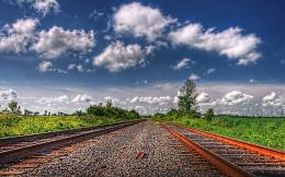 Railroad tracks hdr landscapes wallpaper | 1920x1200 | 29173 805