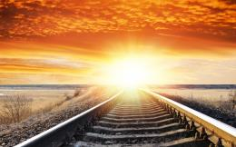 Landscape sunset sunrise sky railroad tracks wallpaper | 1920x1200 952