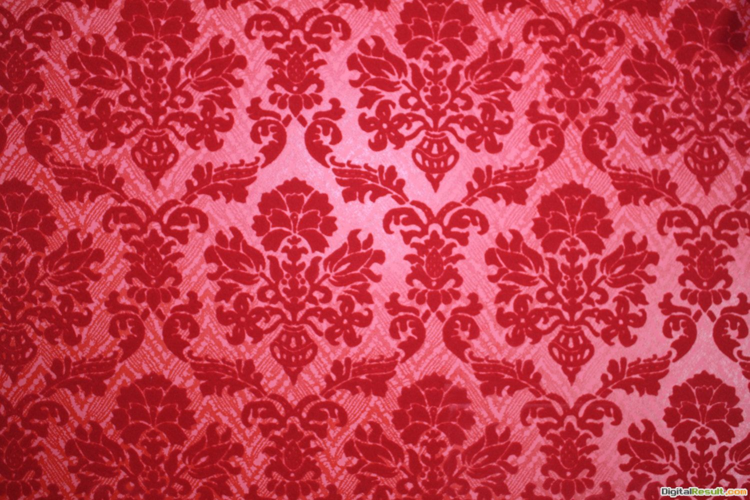 Red Damask Wallpaper Home Decor 1970\'s vintage wallpaper red 486