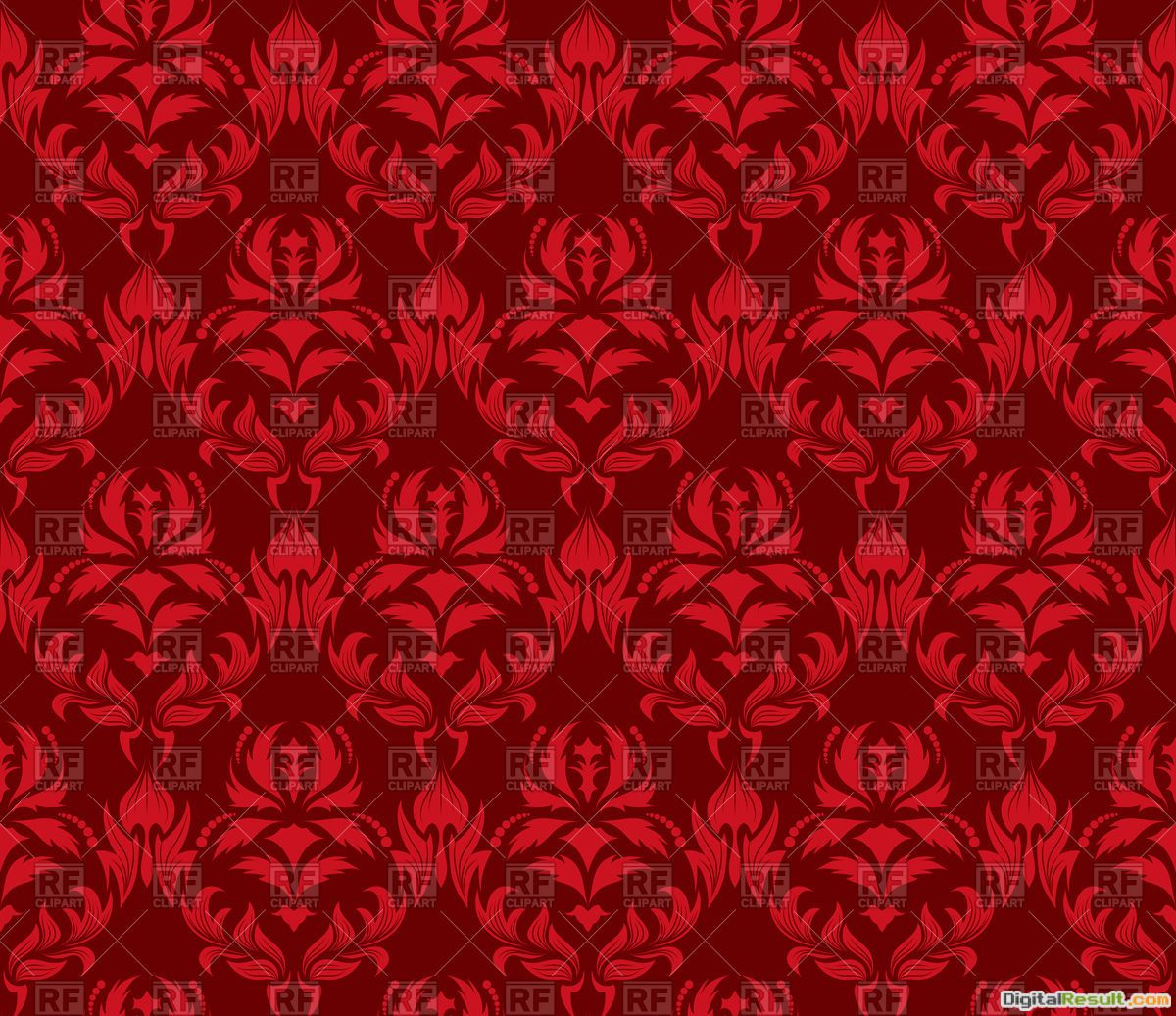 Damask seamless red pattern, 92874, Backgrounds, Textures, Abstract 234