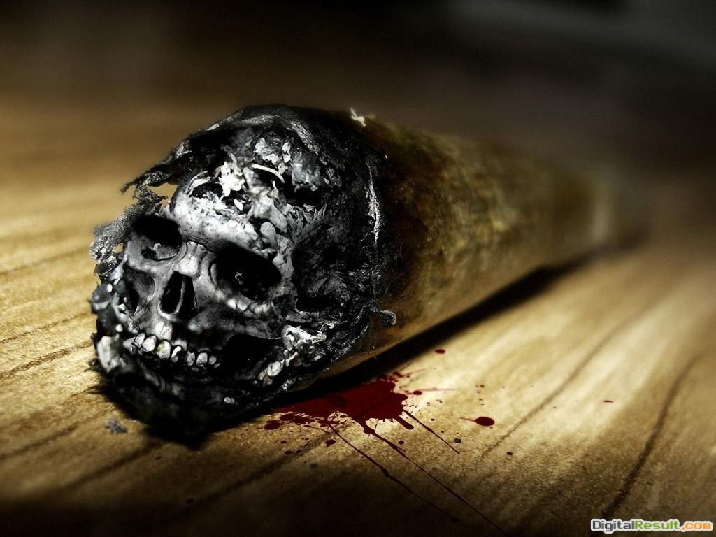 Cigarette SkullSmoking Kills Hd Wallpaper | Wallpaper List 1953