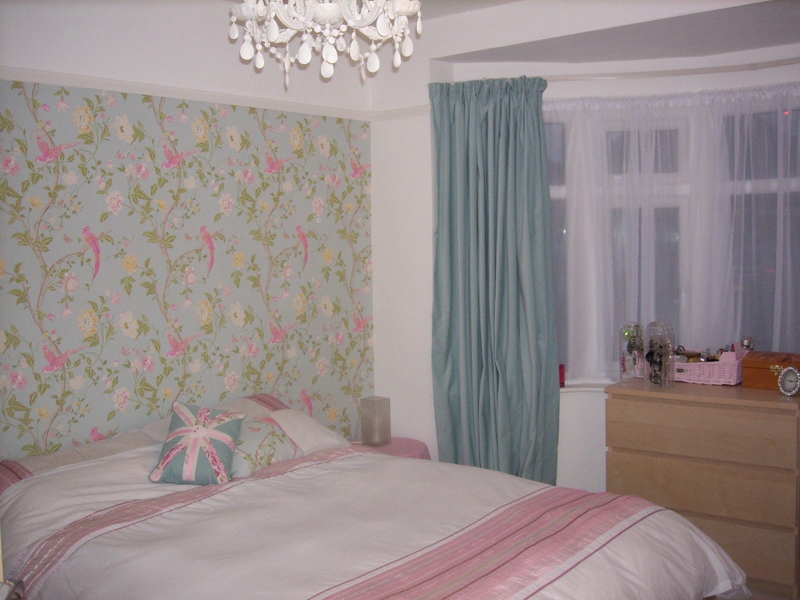 The wallpaper is Summer Palace by Laura Ashley and is really pretty: 223