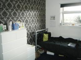 into my roomThe wallpaper is from B&Q and the drawers are from IKEA 336