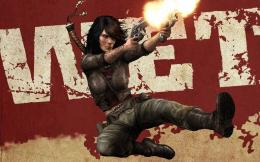 rubi malone, wet, heroine, guns, shooting, sword, girl, video game 400