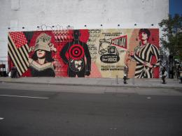 shepard fairey replaced os gemeos at houston and bowery 103