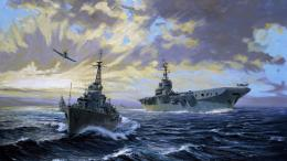 art battle sea painting ships navy guns military ship #2379483 1707