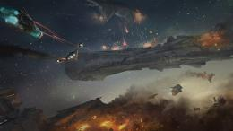 fighting war art artwork warrior futuristic spaceship space wallpaper 105