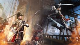 Black Flag Rifle Sword Explosion Fighting Video Game HD Wallpaper p02 1061