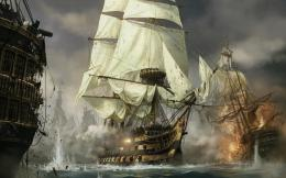 Ships fighting wallpaper 121