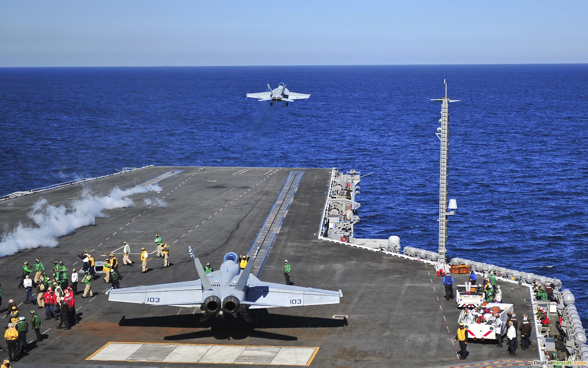 Carrier military navy boats ships weapons ocean sea sky fighter 1486