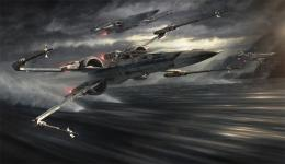 Keywords: official disney star wars x wing t 70 above water liquid 1491