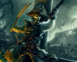 Skeleton Pirate Hd Wallpaper | Wallpaper List 1400