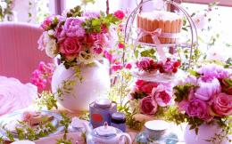 tea party wallpaper in Flowersplants wallpapers with all 452