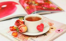 Good morning hot tea with flower love | HD Wallpapers Rocks 379