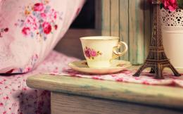 Good Morning Cup Tea Flowers hd Wallpaper 1710