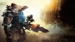 Download 1366x768 Titanfall, Game, Heroes, Robot Wallpaper, Background 1290
