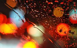 Lights glass bokeh water drops wallpaper | 2560x1600 | 18999 291