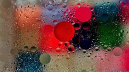 Colorful Water Drops on Glass Wallpaper 1418