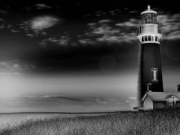 Beeautiful Lighthouse Black And White Hd Wallpaper | Wallpaper List 622