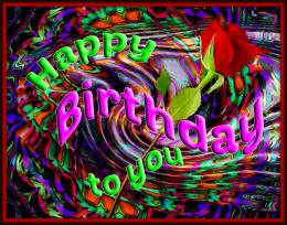 Happy Birthday Card Friends Colorful Rose hd wallpaper #1720146 1524